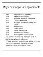 major exchange rate agreements