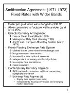smithsonian agreement 1971 1973 fixed rates with wider bands