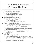 the birth of a european currency the euro