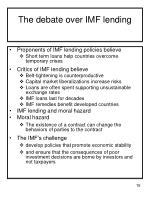 the debate over imf lending