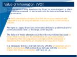 value of information voi