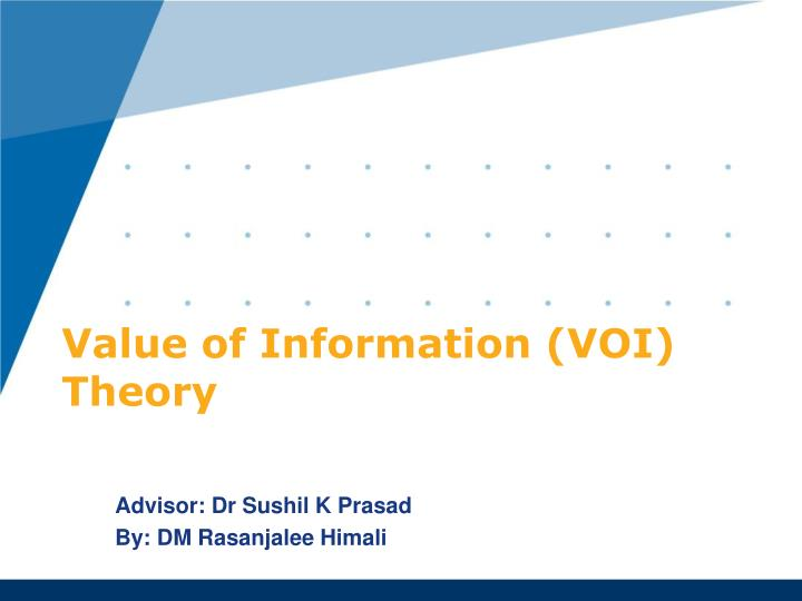 value of information voi theory n.