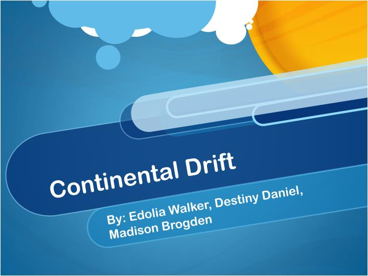 continental drift n.