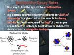 radioactive decay rates