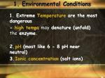 1 environmental conditions