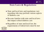 state laws regulations