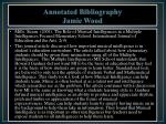 annotated bibliography jamie wood