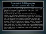 annotated bibliography merrissa jordan mclean
