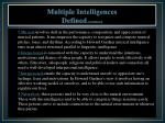multiple intelligences defined continued