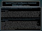 spatial visual intelligence annotated bibliography susan moore