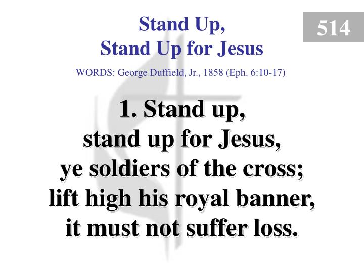 stand up stand up for jesus verse 1 n.