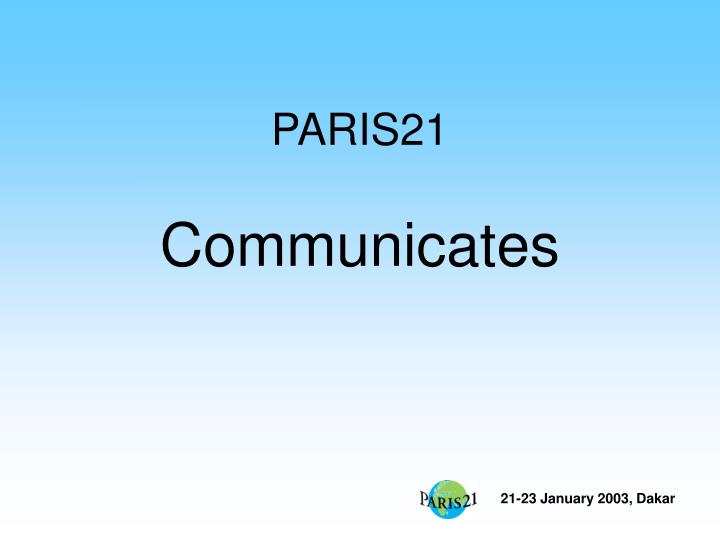 paris21 communicates n.