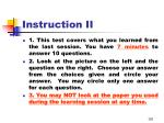 instruction ii2