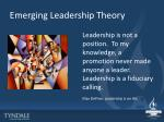 emerging leadership theory