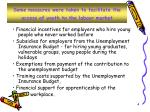 some measures were taken to facilitate the access of youth to the labour market