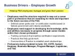 business drivers employee growth