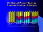 drinking and problem status by treatment condition outpatient