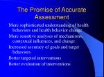 the promise of accurate assessment