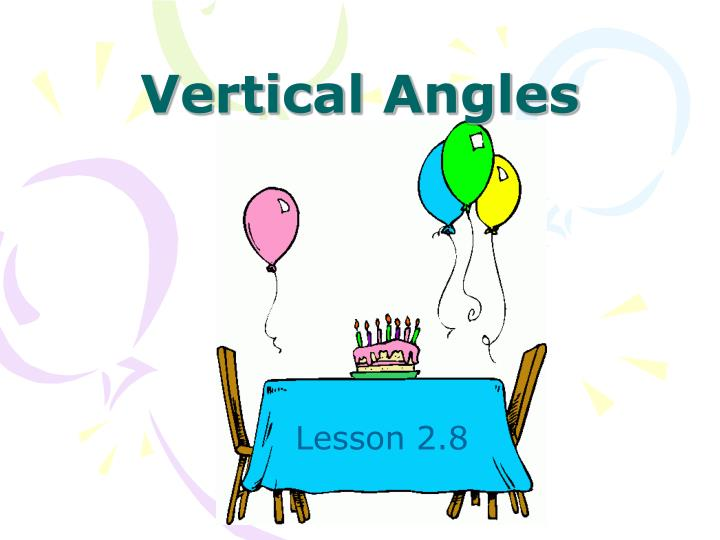 vertical angles n.