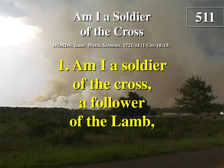am i a soldier of the cross verse 1 n.