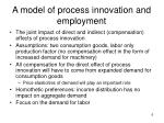 a model of process innovation and employment