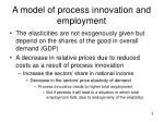 a model of process innovation and employment2