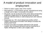 a model of product innovation and employment