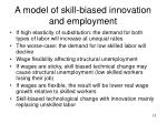 a model of skill biased innovation and employment1