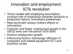 innovation and employment icts revolution