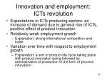 innovation and employment icts revolution1