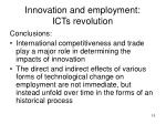 innovation and employment icts revolution2