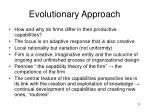 evolutionary approach