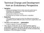 technical change and development from an evolutionary perspective1