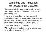 technology and innovation the neoclassical viewpoint2