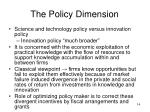 the policy dimension