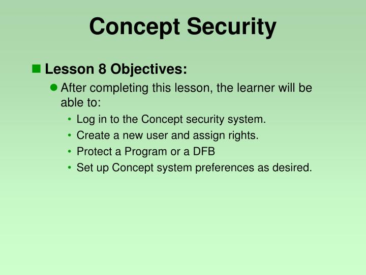 concept security n.