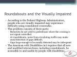 roundabouts and the visually impaired
