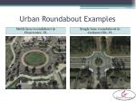 urban roundabout examples