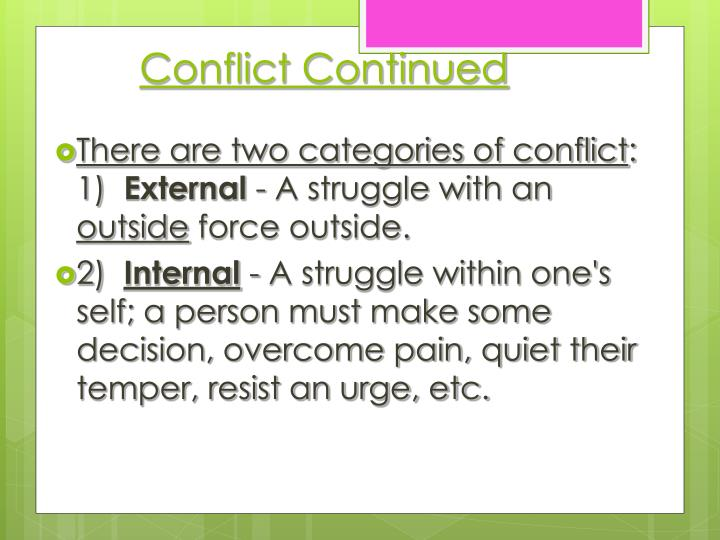 Conflict Continued