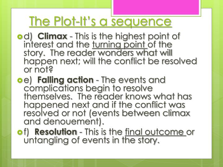 The Plot-It's a sequence