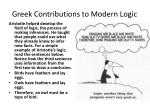 greek contributions to modern logic