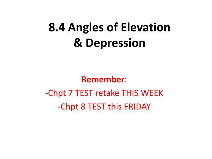 8 4 angles of elevation depression