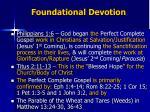 foundational devotion