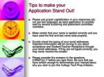 tips to make your application stand out