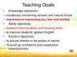 teaching goals
