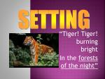 tiger tiger burning bright in the forests of the night