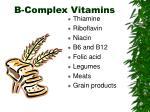 b complex vitamins