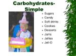 carbohydrates simple