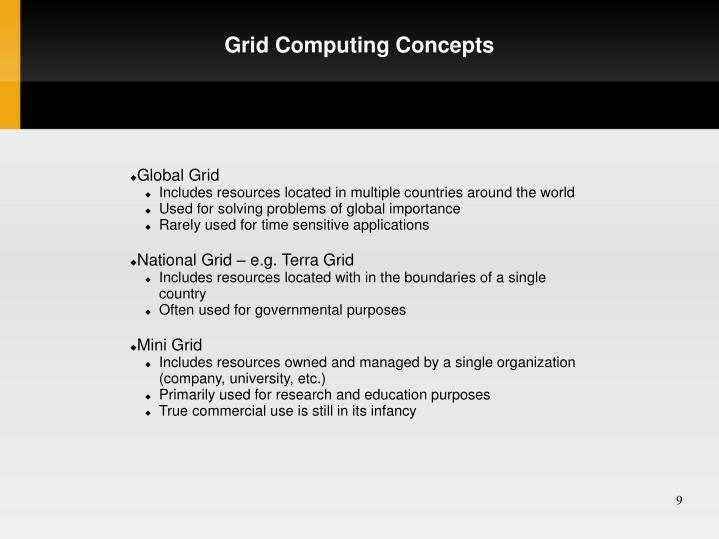 Grid Computing Concepts
