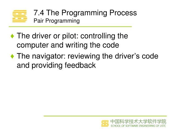 7.4 The Programming Process